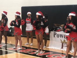 Bengals Cheerleaders about to perform.