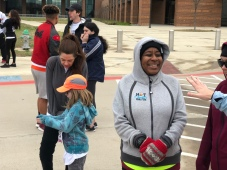Parents and other adults participated in the fundraising 5K event.