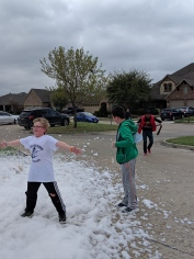 The kids loved the foam.