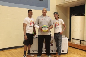 Jarrid and Ahmad Rashad with the big guy! Coach Williams.